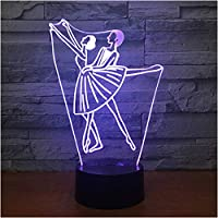 Wxmca 子供の寝室のための3D Ledナイトライトラブリー7カラーチェンジ3Dランプベッドサイド装飾ランプ