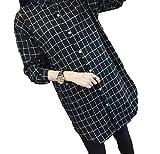 【four clover】 レディース シャツ アウター ロング丈 長袖 チェック 無地 春 秋 冬 xl 大きいサイズ トップス ファッション カジュアル おしゃれ 安い エコバッグ付き