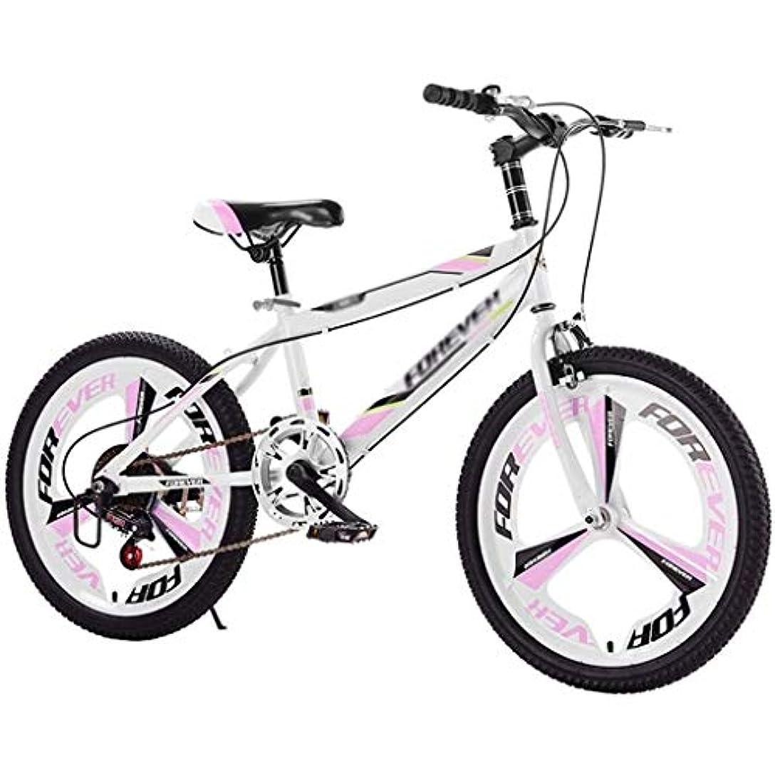 食用雪のリングレット20インチ子供のマウンテンバイクの可変速自転車高炭素鋼用キッズ男の子と女の子キッズアウトドアトラベル (Color : Pink)