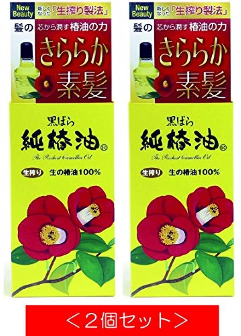 書道変形中庭黒ばら 純椿油 (72mL) 傷んだ髪に芯から潤す天然椿油の力【2個セット】