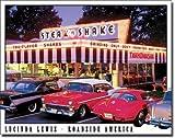 【L.Lewis-Steak n Shake】 アメリカンダイナー クラシックカー アメリカンブリキ看板