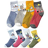 Women's Miyazaki Japanese Animation Crew Socks with Pouch Pack of 4 pairs - Spirited Away My Neighbor Totoro Kiki's Delivery Service Howl's Moving Castle
