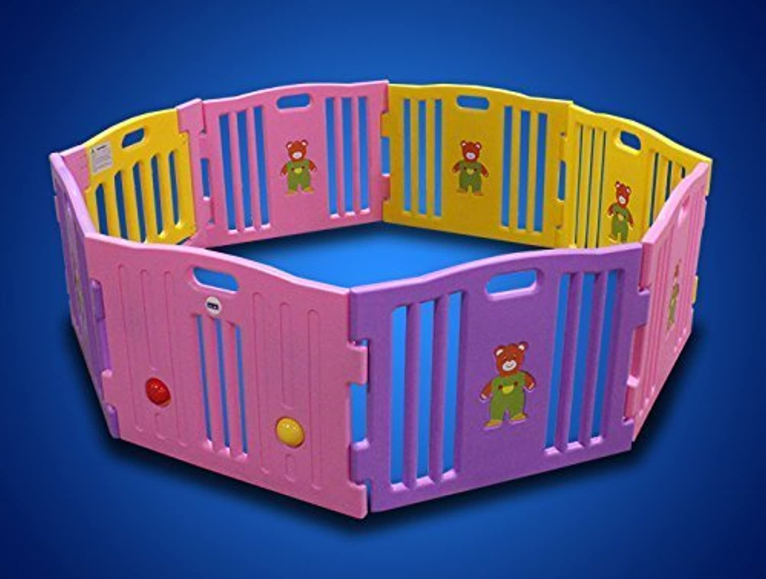 New Pink 8 Panel Baby Playpen Kids Safety Play Center Yard Home Indoor Girls by MTN Gearsmith [並行輸入品]
