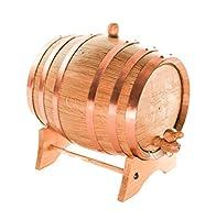 AmericanオークAgingバレル|手作りを使用してアメリカホワイトオーク| Age Your Own Whiskey、ビール、ワイン、Bourbon、テキーラ、ホットSauce & More 5 Liter or 1.32 Gallon
