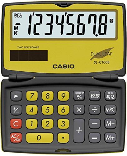 カシオ カラフル電卓 折りたたみ手帳タイプ 8桁 SL-C10...