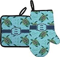 Sea Turtlesオーブンミット&ポットホルダー(Personalized)