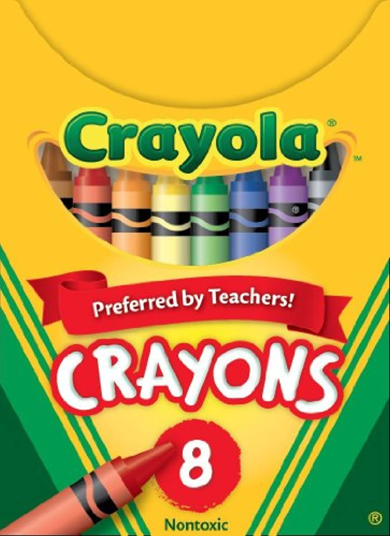 Crayola クレオラ クレヨン 基本の8色 Made in U.S.A. [並行輸入品]