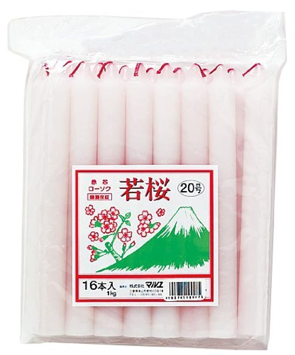 パネル明示的にキャンドルマルエス 若桜 赤芯20号 1kg