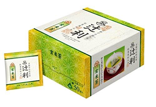 辻利 三角バッグ 玄米茶 50P