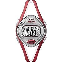Timex Women's T5K787 Ironman Sleek 50-Lap Orange Resin Digital Watch