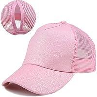 Adjustable Ponytail Baseball Cap Mesh Tracker Hats for Women