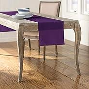 LA Linen Polyester Poplin Table Runner, 14 by 108-Inch, Purple