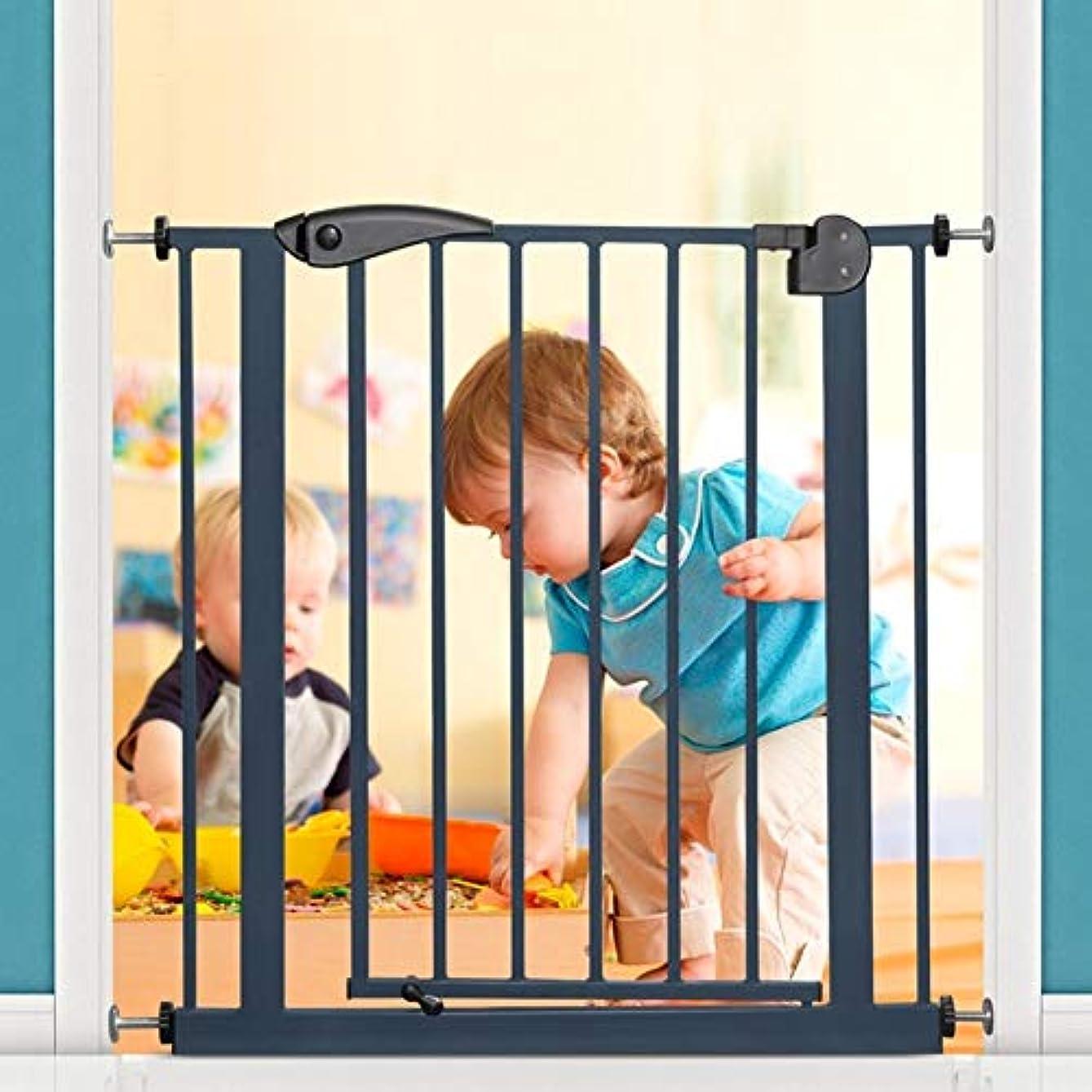 高層ビル実質的に窒素育児 ベビーゲート 子供のための安全扉、屋内階段門、圧力マウントホワイトメタルペットゲート ベビーフェンス (Size : 150-160CM)