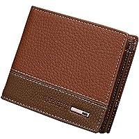 (ドンルルオイン) Dunluluoyin 二つ折り財布 ファスナー型小銭入れ付き メンズ