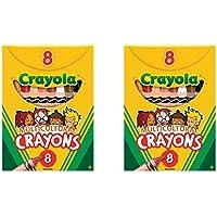 2パックの8 Crayola Multiculturalクレヨンバンドルby Maven Gifts