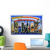 Postcard Greetings from Louisiana Wall Mural by Wallmonkeys Peel and Stick Graphic (24 in W x 15 in H) WM276273 [並行輸入品]