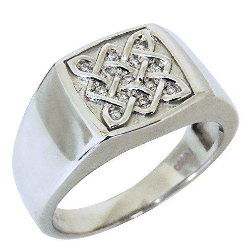 1f24abb1059c 真珠の杜 ダイヤモンド PT900プラチナ 印台型 編み込みデザイン リング メンズ 20号 PT900プラチナ製の印台型センターに、編み込みモチーフを 施したリングです。