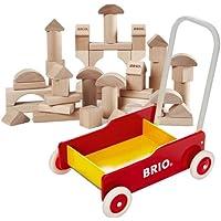 BRIO 手押し車(赤)+つみき50ピース 数量限定セット