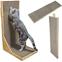 (ヨガドッグ) YOGADOG キャットスクラッチャー Cat Scratcher/Extra Long 44`` Collapsible Scratching cardboard with Catnip (並行輸入品)