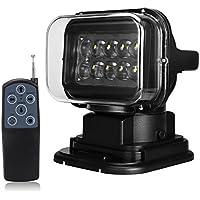 SILIVN サーチライト CREE製 LED作業灯 50w 12v-24v兼用 防水 リモコン付 遠隔操作 360度回 転 角度調整 強力マグネット付き 船舶照明 車外灯 1年保証
