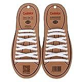 【ノーブランド品】大人用 シリコンゴム製 結ばない 靴ひも シューレース (ホワイト) 1組