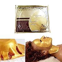 Roshion 良い 24Kゴールドコラーゲンフェイスマスククリスタルゴールドコラーゲンフェイスマスク保湿ホワイトニングアンチエイジングスキンケア