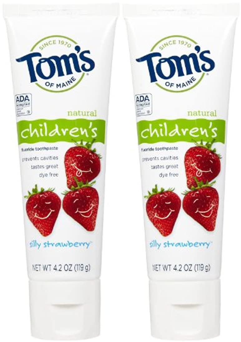 スカープ夕食を食べるユダヤ人Tom's of Maine Anticavity Fluoride Children's Toothpaste - 4.2 oz - Silly Strawberry - 2 pk by Tom's of Maine