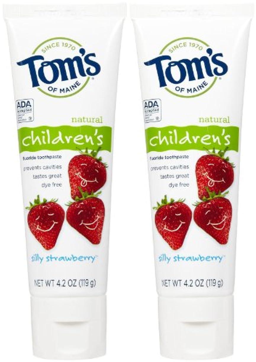 パッケージ銛明るいTom's of Maine Anticavity Fluoride Children's Toothpaste - 4.2 oz - Silly Strawberry - 2 pk by Tom's of Maine