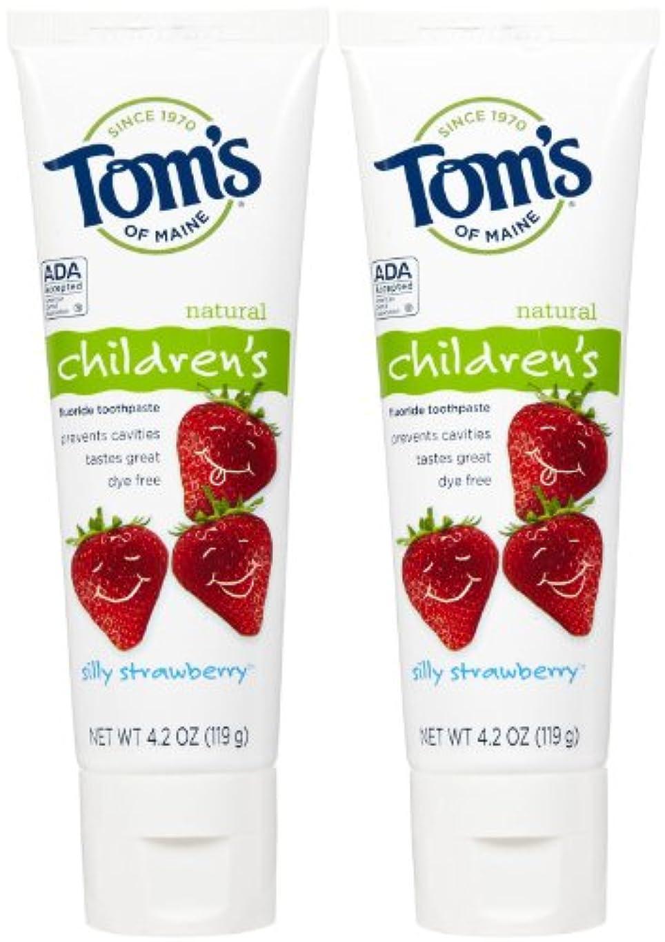 教授津波事実上Tom's of Maine Anticavity Fluoride Children's Toothpaste - 4.2 oz - Silly Strawberry - 2 pk by Tom's of Maine
