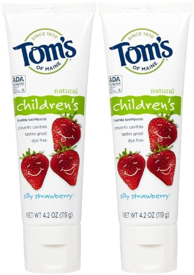 やめる軌道再集計Tom's of Maine Anticavity Fluoride Children's Toothpaste - 4.2 oz - Silly Strawberry - 2 pk by Tom's of Maine