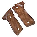 キャロムショット 木製グリップ 紫檀チェッカー マルイM9・M92F用
