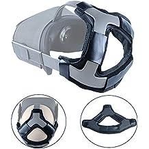 Esimen Head Pad for Oculus Quest/Quest 2 Strap Cushion Headband Fixing Accessories, Gravity Pressure Balance Cushion Leather Foam (Black)
