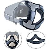 Esimen Head Pad for Oculus Quest/Quest 2 Strap Cushion Headband Fixing Accessories, Gravity Pressure Balance Cushion Leather