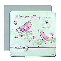 母の日カード 「摘みたての花」 02 二羽の小鳥