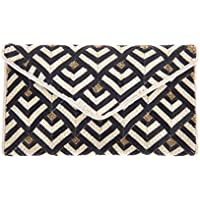 From St Xavier Women's Tilda Clutch, Black/Ivory, One Size