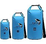 Danyee®安心交換保証付 防水ポーチ 3重チャック PVC素材 海水浴 プール 釣り バイク ウエストバッグ 防水 携帯 (ドライバッグ 20L ブルー)