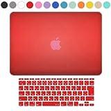 MS factory MacBook Air 11 ケース + 日本語 キーボード カバー ハードケース 全14色カバー RMC series マックブック エア 11.6 インチ Early 2015 対応 マット加工 レッド 赤 RMC-SETA11MRD