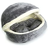 FUNCOCO Hamburger Pet Bed Cat Bed Dog Bed Pet Bed Dog Pillow Warm Soft Luxury Washable Foldable Pet Nest Sleeping Bed Cat Nest Dog Kennel Cat Den Dog Cave
