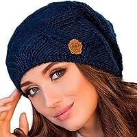 Braxton Hats Women - Warm Soft Fleece Knit Slouchy Beanie - Wool Winter Cap