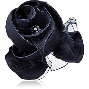 [ヴァンドーム ブティック] VENDOME BOUTIQUE パール シルク シフォン フォーマル フラワー ブルー コサージュ VBUS5010 B2
