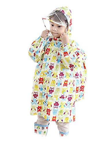 (귀여운 윙크) Cute Wink 어린이 비옷 바이저있는 카파 배낭 대응 (2색상)