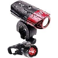 LICLI 自転車ライト 防水 USB 充電式 明るい LED ヘッドライト 前照灯 日本語説明書で簡単取り付け 「 テールライト ホルダー 付 」「 高輝度 軽量 コンパクト 」「 クロスバイク ロードバイク 自転車 」 4カラー