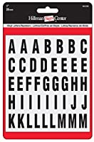 """Theヒルマングループ848629、1""""反射ブラックLetters & Numbersキット 848629"""