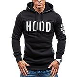 レディース ジャケット (XX-Large, Black) - Sport Hoodie Coats,Hemlock Men's Sweater Jackets Pullover Sweatshirt Warm Outwear Tops (XXL, Black)