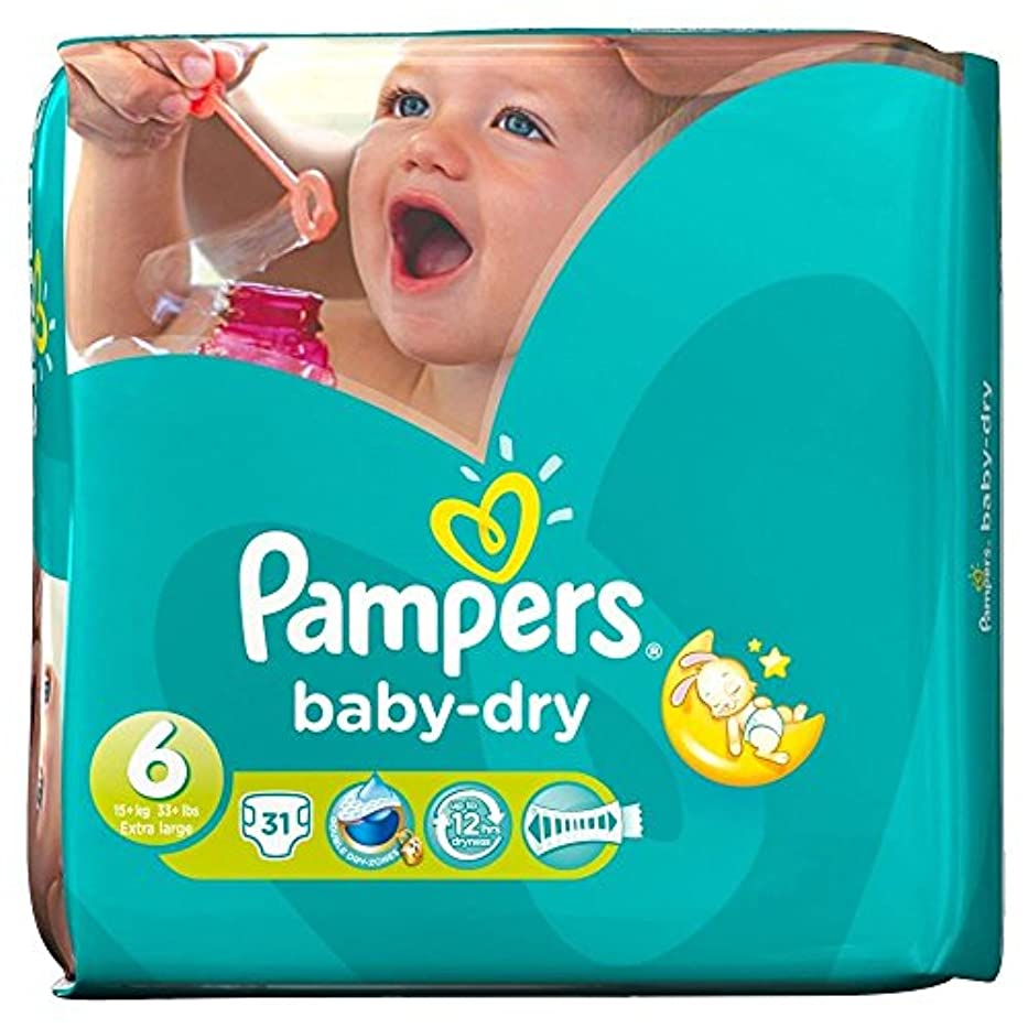 Pampers Baby Dry Size 6 Extra Large 16kg+ (31 per pack) パンパース赤ちゃんドライサイズ6特大16キロ+ (パックあたり31 )