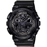 G-SHOCK Men's Year-Round Analog-Digital Automatic Black Watch GA100CF-1A