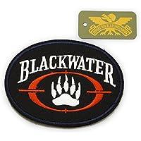 ワッペン ブラックウォーター PMC 部隊 章 米 アメリカ 軍 アフガン 民 傭兵 サバゲー 装備 パッチ BLACKWATER