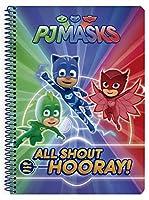 PJ Mask A5 Notebook 80 sheets hard cover assorted / PJマスクノートA5 80枚各種ハードカバー