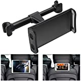 360° Rotation Car Headrest Mount, Phone Tablet Car Headrest Grip Mount Stand Cradle Bracket Holder for iPad/ Samsung Galaxy Tabs/ Amazon Kindle Fire 4 ~11 inch Smartphones and Tablets (White)