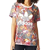adidas ORIGINALS(アディダス オリジナルス) 半袖Tシャツ レディース HERI FUGIPRABALI TEE 花柄 Mサイズ マルチカラー mkg28-M-BJ8406